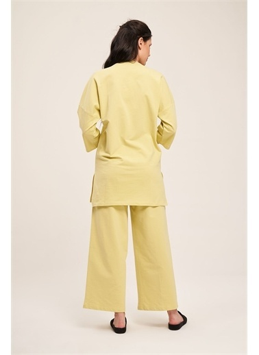 Mizalle Mizalle İki İplik Cepli Pijama Tak,Yeş,L Yeşil